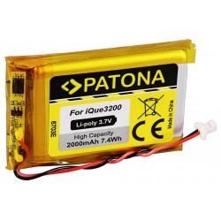 PATONA baterie pro GPS Garmin iQue 3200 2000mAh Li-Pol 3,7V iQue 3600