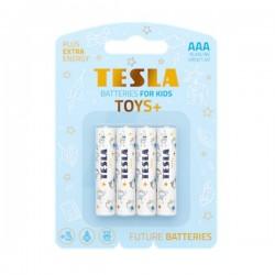 TESLA TOYS+ BOY alkalická baterie AAA (LR03, mikrotužková, blister) 4 ks