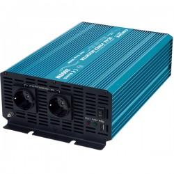 Carspa P3000U-122, měnič napětí, 12V/230V+USB 3000W, čistá sinusovka