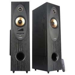 FENDA F&D repro T-35X/ 2.0/ 80W/ černé/ dřevěné/ BT5.0/ Optický vstup/ FM rádio/ USB/ dálkové ovládání/ Karaoke