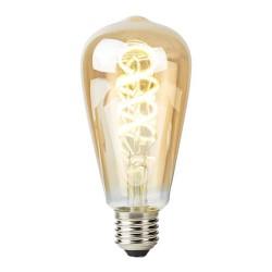 NEDIS Wi-Fi chytrá LED žárovka s vláknem/ E27/ ST64/ 5,5W/ 230V/ 350lm/ teplá až studená bílá/ stmívat./ kroucená/ zlatá