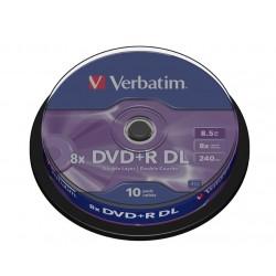 VERBATIM DVD+R DoubleLayer 8,5GB/ 8x/ 10pack/ spindle