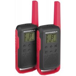 Motorola TLKR T62 červená vysílačka (2 ks, dosah až 8 km)