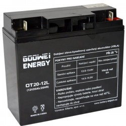 GOOWEI ENERGY Pb záložní akumulátor VRLA GEL 12V/20Ah (OTL20-12)