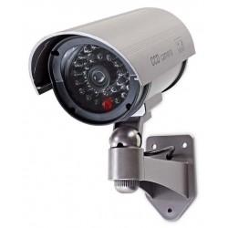 NEDIS atrapa bezpečnostní kamery s infračervenou LED/ bullet/ IP44/ venkovní/ šedá