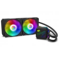 SilentiumPC vodní chladič Navis EVO ARGB 240 AiO / 2x120mm fan / 22dBA / pro AM3, AM4, LGA 2066,2011,1155,1151,1156,1366