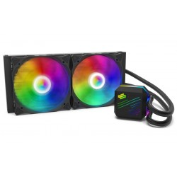 SilentiumPC vodní chladič Navis EVO ARGB 280 AiO / 2x140mm fan / 22dBA / pro AM3, AM4, LGA 2066,2011,1155,1151,1156,1366