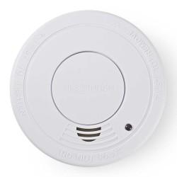 NEDIS detektor kouře/ EN14604/ hlasitost 85 dB/ 1x 9V/6F22/ výdrž snímače 10 let/ bílý
