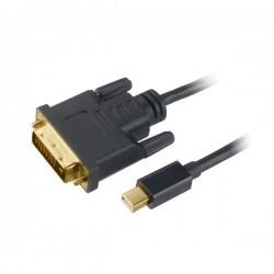 AKASA kabel mini DipIayPort na DVI-D(M) / AK-CBDP18-18BK / až 1080p / 1,8m / černý
