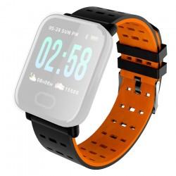 IMMAX řemínek pro chytré hodinky SW11/ černo-oranžový