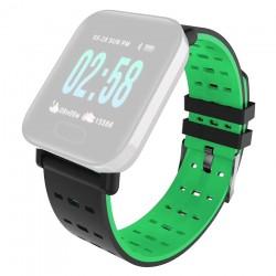 IMMAX řemínek pro chytré hodinky SW11/ černo-zelený