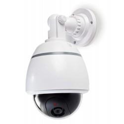 NEDIS atrapa bezpečnostní kamery s blikající LED/ dome/ IP44/ venkovní/ bílá