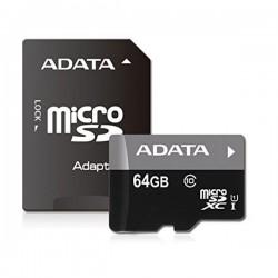 ADATA Premier 64GB microSDXC/ UHS-I CL10 + adaptér