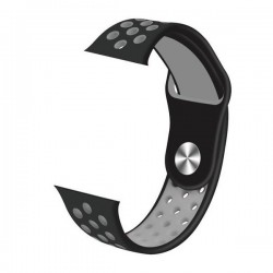 IMMAX řemínek pro chytré hodinky SW10/ SW13/ SW13 PRO/ Apple watch/ šedo-černý