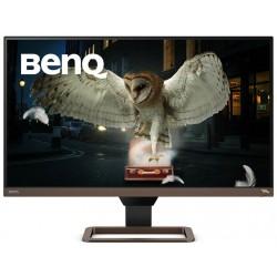 """BENQ 27"""" LED EW2780U/ IPS panel/ 3840x2160/ 1300:1/ 5ms/ 2x HDMI/ DP/ USB-C/ repro/ HDR/ hnědý - černý"""