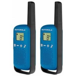 Motorola TLKR T42 vysílačka   2 ks, dosah až 4 km, modrá