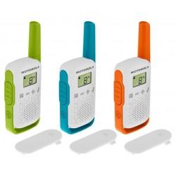 Motorola TLKR T42 vysílačka   3 ks, dosah až 4 km, Triple Pack