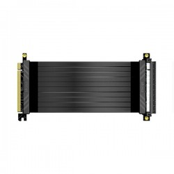 AKASA kabel pro VGA RISER BLACK X2 / AK-CBPE01-20B / PCIe 3.0 x16 / 20 cm / černý