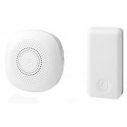 NEDIS sada bezdrátového domovního zvonku/ napájení ze sítě/ vysílač s vlastním napáj./ 36 melodií/ dosah 150 m/ 80 dB