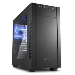 Sharkoon skříň S1000 Window / Micro-ATX / průhledná bočnice / 2x USB3.0 / 2x3,5mm / 2x120mm fan / černá