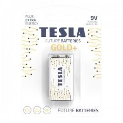 TESLA GOLD+ alkalická baterie 9V (6LR61, blister) 1 ks