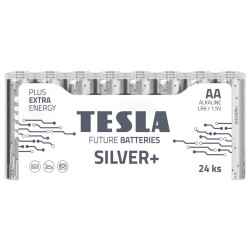 TESLA SILVER+ alkalická baterie AA (LR06, tužková, fólie) 24 ks