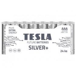 TESLA SILVER+ alkalická baterie AAA (LR03, mikrotužková, fólie) 24 ks
