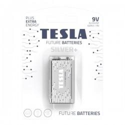 TESLA SILVER+ alkalická baterie 9V (6LR61, blister) 1 ks