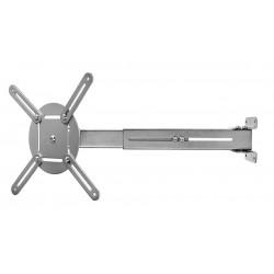 NEDIS nástěnný držák pro projektor/ nostnost 10 kg/ otáčení 360°/ 4 ramena/ šedý