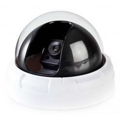 NEDIS atrapa bezpečnostní kamery s blikající LED/ dome/ vnitřní/ bílá