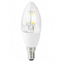 NEDIS Wi-Fi chytrá LED žárovka/ E14/ 5W/ 230V/ 400lm/ 2700K/ teplá bílá/ stmívatelná