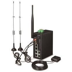 Planet IoT/M2M průmyslová brána, 1xWAN+3xLAN 1Gb, 2xLTE, WiFi ac, GPS, 3xCOM, I/O, DIN, IP30, -36/+75C, 9-36VDC