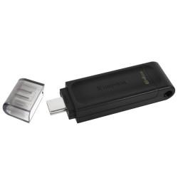 KINGSTON DataTraveler 70 64GB / USB 3.0 Type C / černá