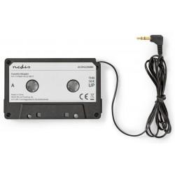 NEDIS kazetový adaptér/ zástrčka 3,5mm jack/ černý