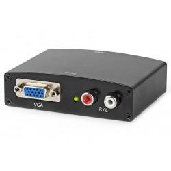 NEDIS převodník VGA na HDMI/ 2x RCA/ černý