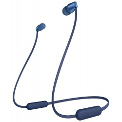 SONY headset do uší WI-C310/ sluchátka bezdrátová + mikrofon/ USB-C/ Bluetooth/ modrý