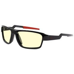 GUNNAR herní brýle Lightening Bolt 360 / obroučky ONYX / měnitelná sluneční skla / 3 druhy nožiček / jantarová skla