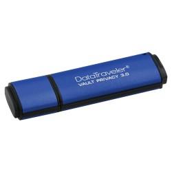 KINGSTON DTVP30 16GB / USB 3.0 / 256-bit AES Encrypted / modrá
