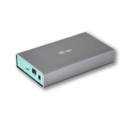 """I-tec externí box pro HDD MySafe/ 3,5"""" SATA/ USB 3.1 Type C Gen 2/ přenos dat až 10 Gbps/ kovový"""
