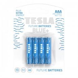 TESLA BLUE+ Zinc Carbon baterie AAA (R03, mikrotužková, blister) 4 ks