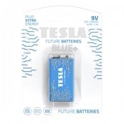 TESLA BLUE+ Zinc Carbon baterie 9V (6F22, blister) 1 ks