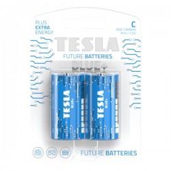 TESLA BLUE+ Zinc Carbon baterie C (R14, malý monočlánek, blister) 2 ks