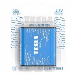 TESLA BLUE+ Zinc Carbon baterie 4,5V (3R12, plochá, blister) 1 ks