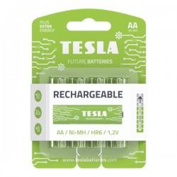 TESLA RECHARGEABLE+ nabíjecí baterie AA Ni-MH 2450mAh (HR06, tužková, blister) 4 ks