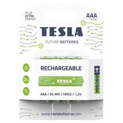 TESLA RECHARGEABLE+ nabíjecí baterie AAA Ni-MH 800mAh (HR03, mikrotužková, blister) 4 ks