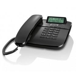 SIEMENS GIGASET DA611 - standardní telefon s displejem, CLIP, 10 kláves rychlé volby, handsfree, barva černá