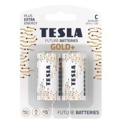 TESLA GOLD+ alkalická baterie C (LR14, malý monočlánek, blister) 2 ks