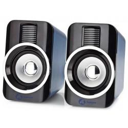 NEDIS herní reproduktory/ 2.0/ výkon 30 W/ 3,5 mm jack/ USB/ ABS/ černo-stříbrné
