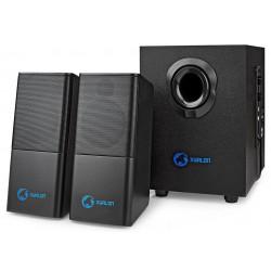 NEDIS herní reproduktory/ 2.1/ výkon 33 W/ 3,5 mm jack/ USB/ ABS/ dřevo/ černé