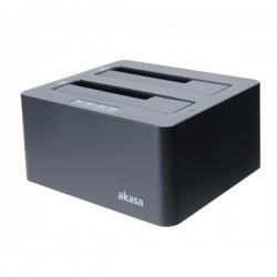 """AKASA externí box DuoDock X3 pro 2,5"""" i 3,5"""" HDD / SATA I/II/III / USB 3.1 Gen 1 /  černý"""
